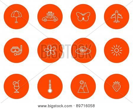 Summer icons.Set 2.Vector