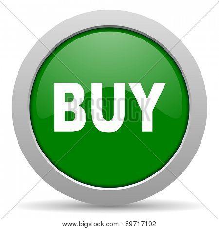buy green glossy web icon