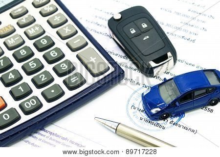 Buy Sell Rent A Car For Business Concept.