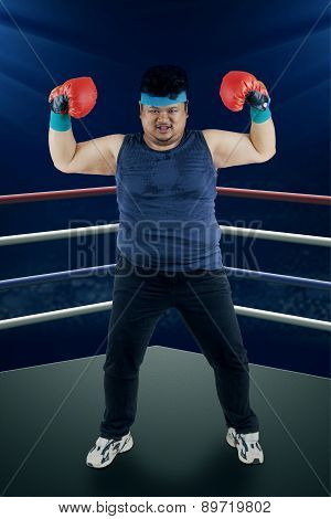 Strong Man Ready To Boxing