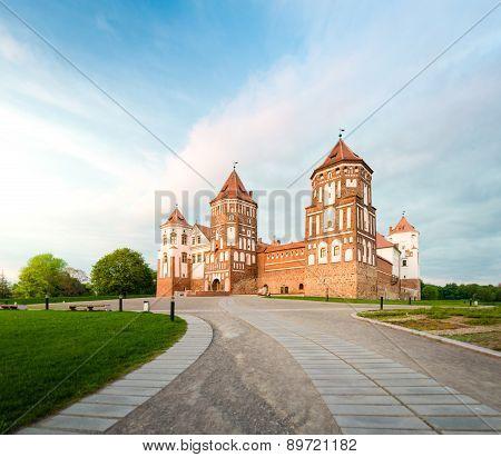 Beautiful Landscape With Mir Castle In Belarus.