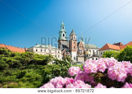 View To Wawel Cathedral In Krakow, Poland.