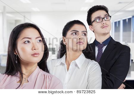 Multiracial Business Team Looking At Copyspace