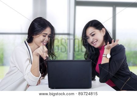Marketing Staff Discussing Job