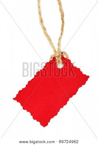 Blank tag isolated on white