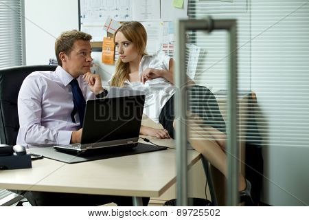 Office love affair concept