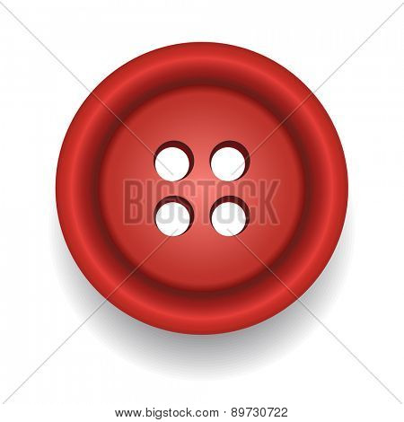 Sewing button. Vector
