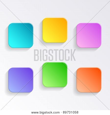 Blank Colorful Buttons