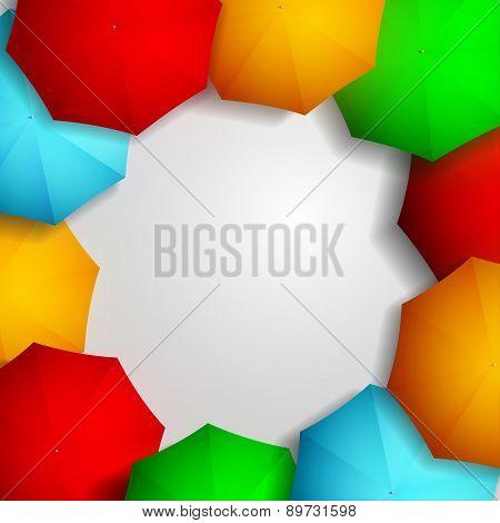 Frame Of Colorful Umbrellas