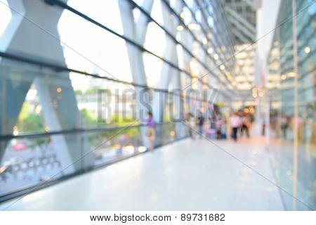 Blur Or Defocus Image Of Modern Building