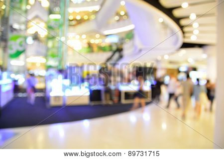 Blur Or Defocus Image Of Shopping Mall