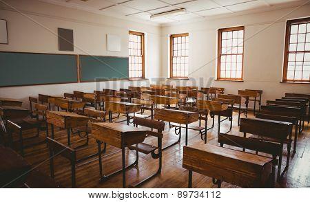 Empty classroom at the elementary school