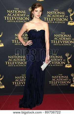 LOS ANGELES - APR 24: Ashlyn Pearce at The 42nd Daytime Creative Arts Emmy Awards Gala at the Universal Hilton Hotel on April 24, 2015 in Los Angeles, California