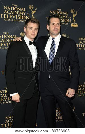 LOS ANGELES - APR 24: Chad Duell, Frank Valentini at The 42nd Daytime Creative Arts Emmy Awards Gala at the Universal Hilton Hotel on April 24, 2015 in Los Angeles, California