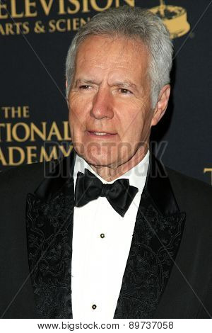 LOS ANGELES - APR 24: Alex Trebek at The 42nd Daytime Creative Arts Emmy Awards Gala at the Universal Hilton Hotel on April 24, 2015 in Los Angeles, California