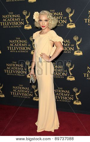 LOS ANGELES - APR 24: Addie Hamilton at The 42nd Daytime Creative Arts Emmy Awards Gala at the Universal Hilton Hotel on April 24, 2015 in Los Angeles, California