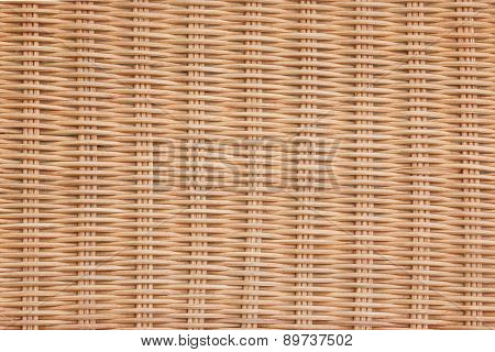 Brown Wicker Rattan Texture Background