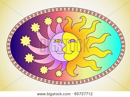 the sun and moon in a single image