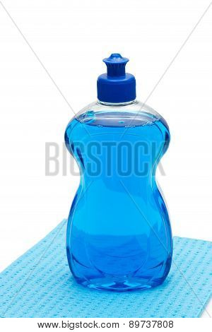 Blue Dishwashing Liquid