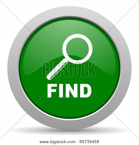find green glossy web icon