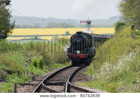 Steam Locomotive in the English Countryside