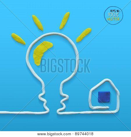 Light bulb concept template