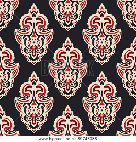Damask vector pattern for fabric