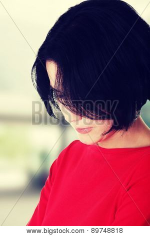 Portrait of an attractive thoughtful woman