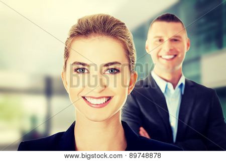 Portrait of successful business couple