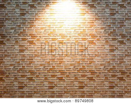 Enlighted brick wall