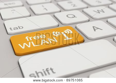 Keyboard - Free Wlan - Orange