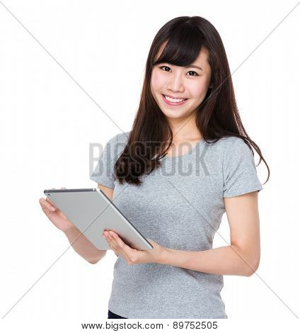 Woman use of tablet pc