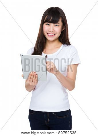 Young student use of tablet