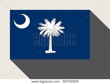 American State of South Carolina flag in flat web design style.