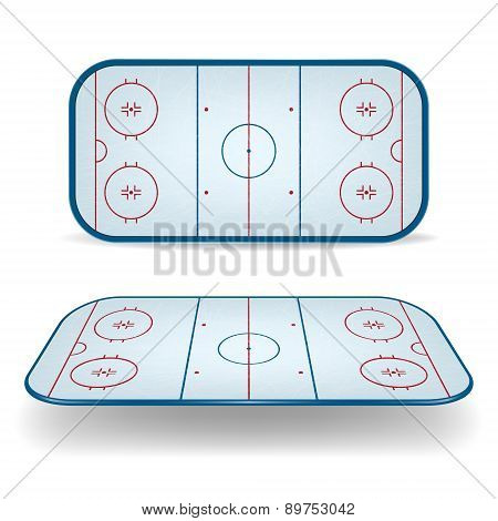 Set Of Ice Hockey Fields