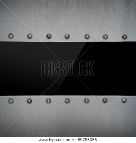 metal plate with glass template