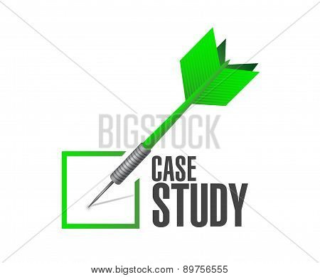 Case Study Check Dart Sign Concept