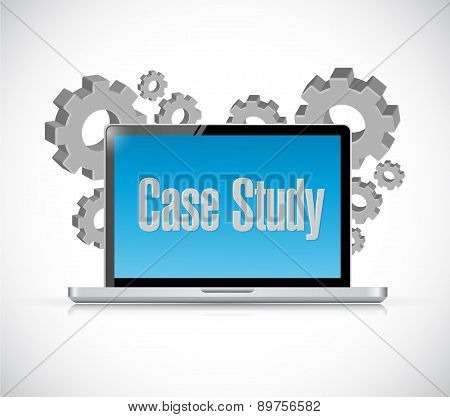 Case Study Tech Computer Sign Concept