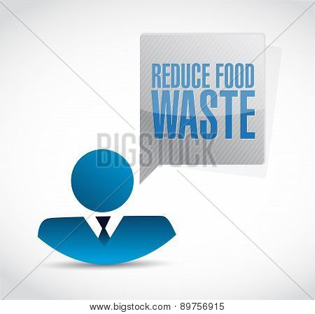 Reduce Food Waste Businessman Sign Concept