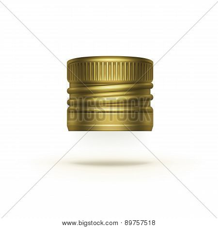 Vector Screw Bottle Cap Isolated on Background