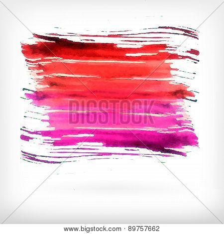 Vector abstract watercolor brush design elements.