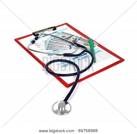 Clipboard With Medical Form