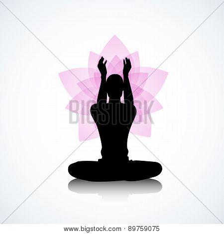 Man And Pink Lotus