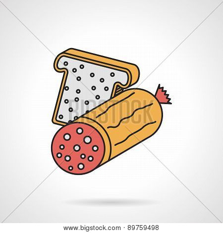 Flat vector icon for sandwich