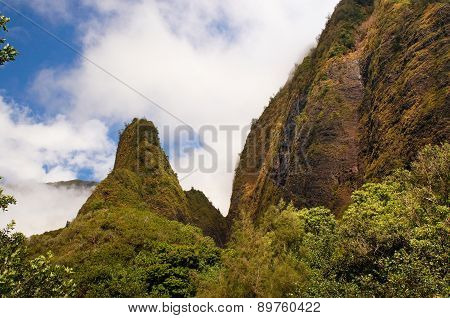 Iao Needle, at Iao Valley, Maui, Hawaii, USA
