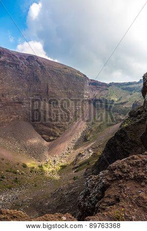 Vesuvius Volcano Crater