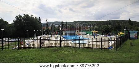 Outdoor pool in the Sanatorium Belokuriha