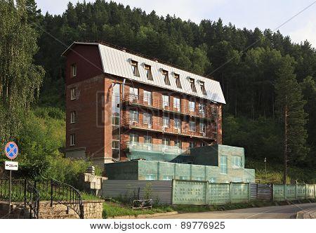 Unfinished hotel in the resort Belokuriha.