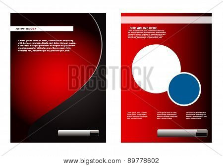 Leaflet design element red background