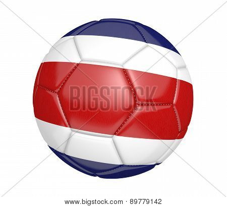 Soccer ball, or football, with the country flag of Costa Rica